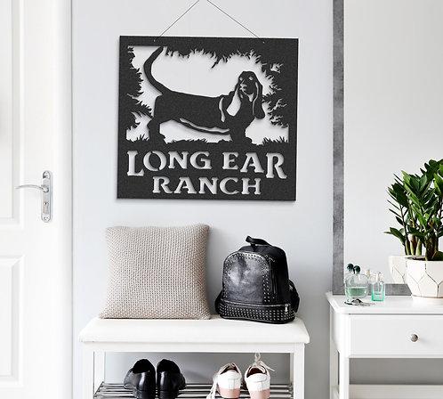 Basset Hound Hound Dog Long Ears Hunting Dog Custom Metal Sign