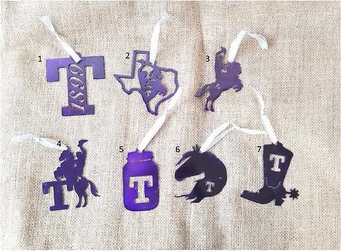 Tarleton State University Metal Ornaments