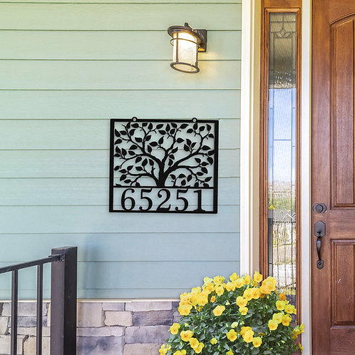 Tree Of Life Family Address Sign
