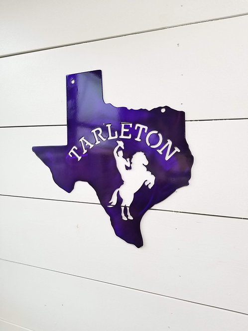 Tarleton State University Metal Sign