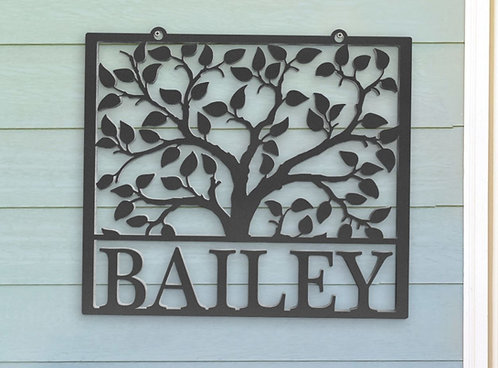 Tree Of Life Family Name Sign