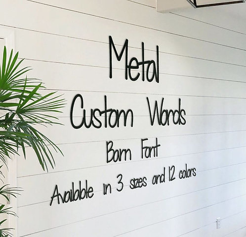 Barn Style Metal Words