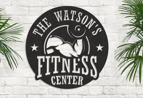 Personalized Gym Sign, Custom Fitness Center Signs