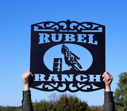 Custom Rodeo Barrel Racing Sign
