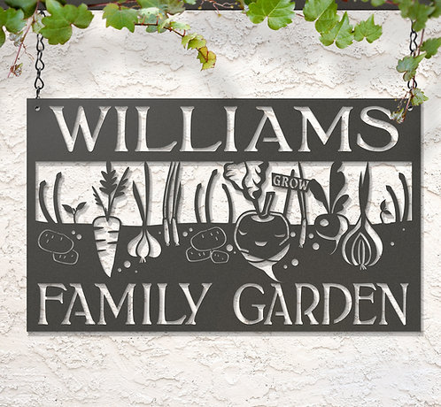 Custom Hanging Vegetable Garden Sign