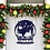 Thumbnail: Metal Snow Globe Personalized Santa's Reindeer Door Hanger Sign