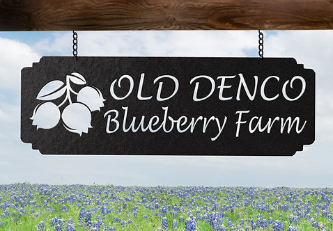 Blueberry Farm Custom Metal Sign