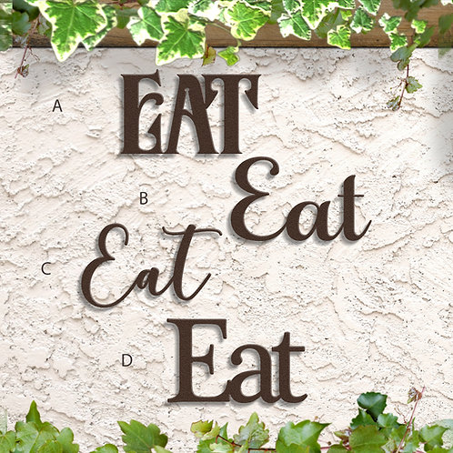 Kitchen Decor, Metal Eat Sign