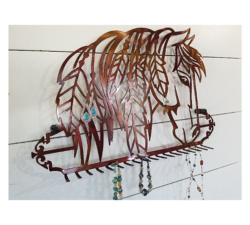 Horse Wall Mount Jewelry Organizer Necklace Holder