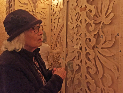 My 91 Year Old Mother Visits the Temple at Burning Man at the Renwick Gallery