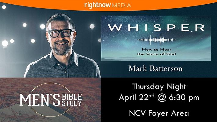 Mens Bible Study Slide (Whisper - April