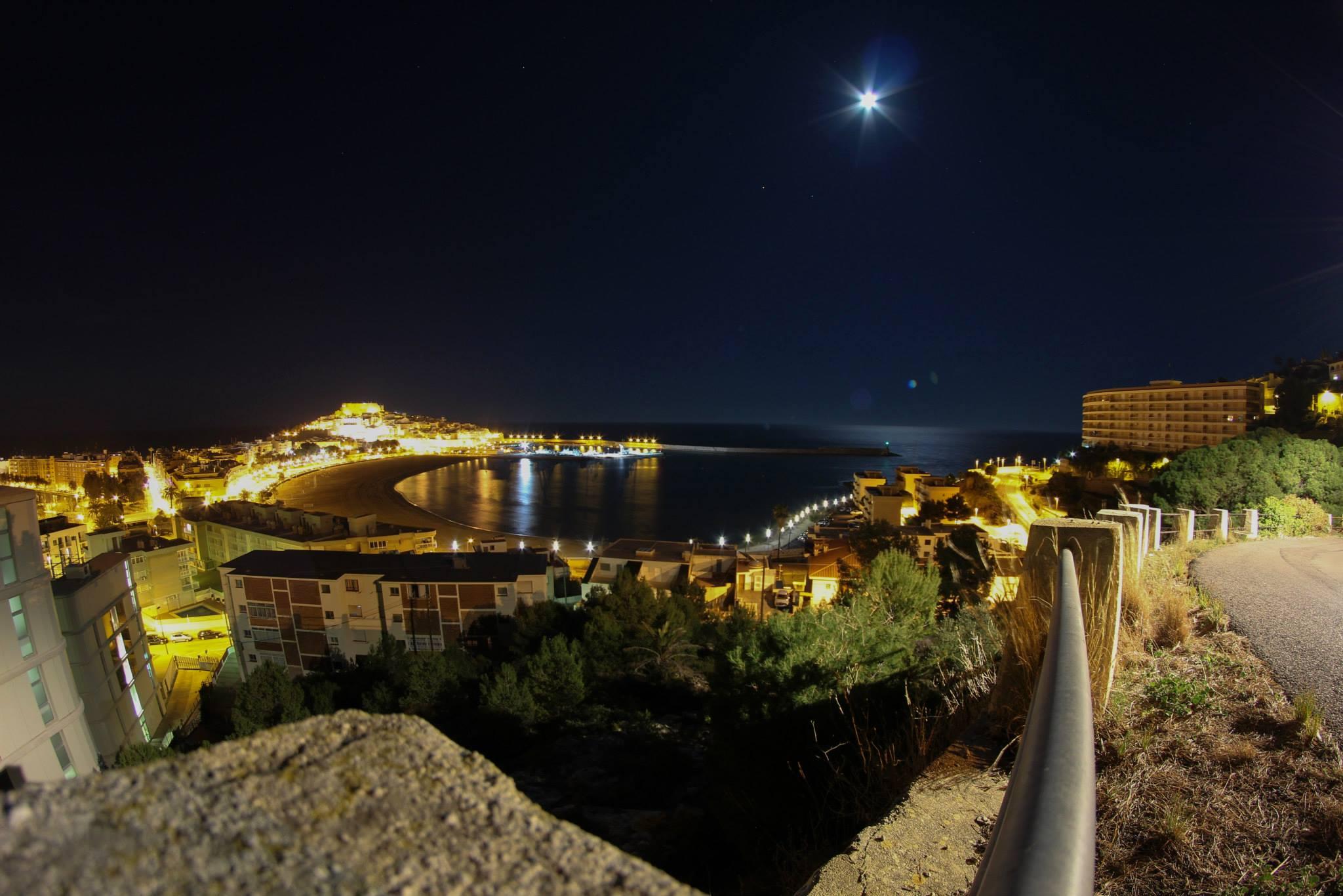 Peñiscola at midnight