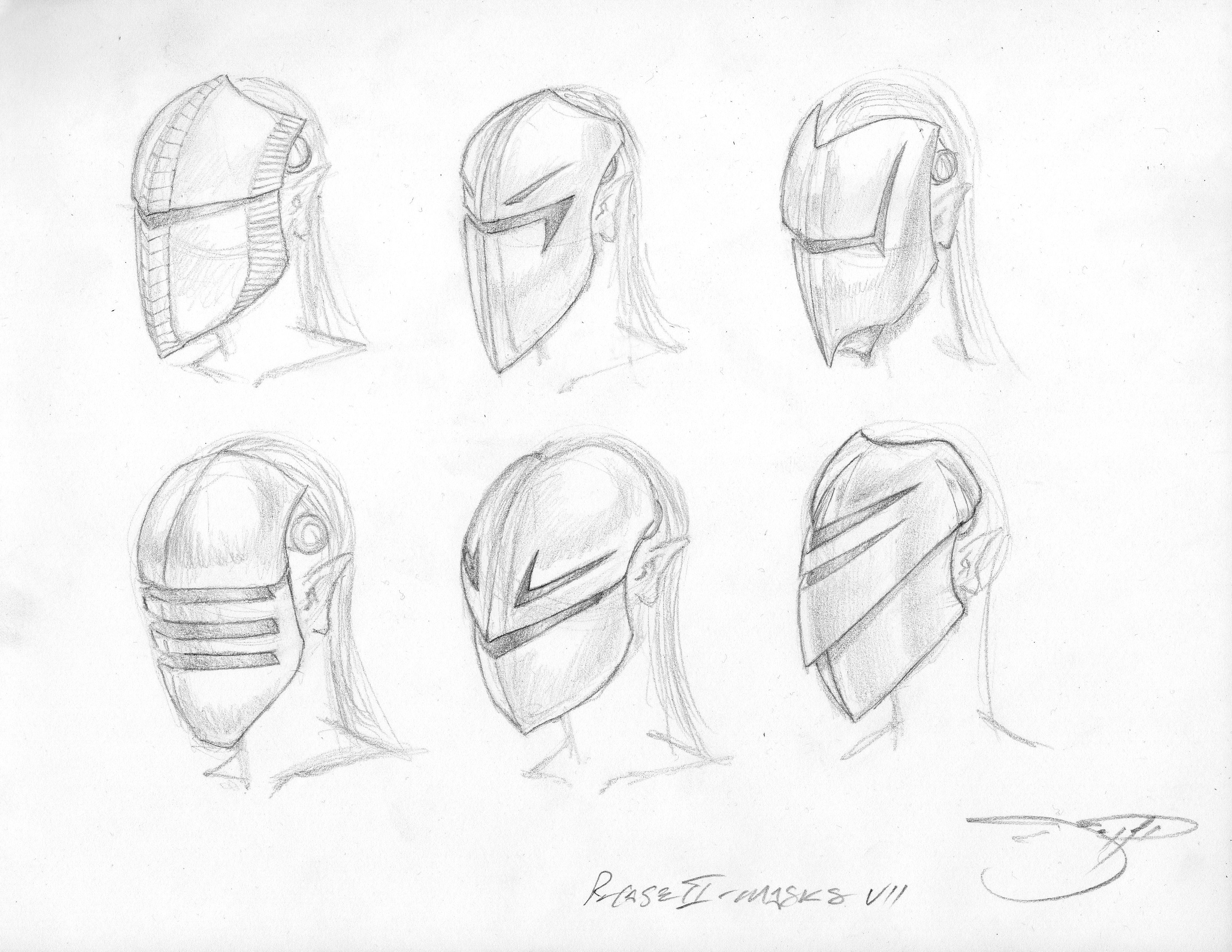 3 Sith Lord Sketches - Phase 2 Mask VII 034