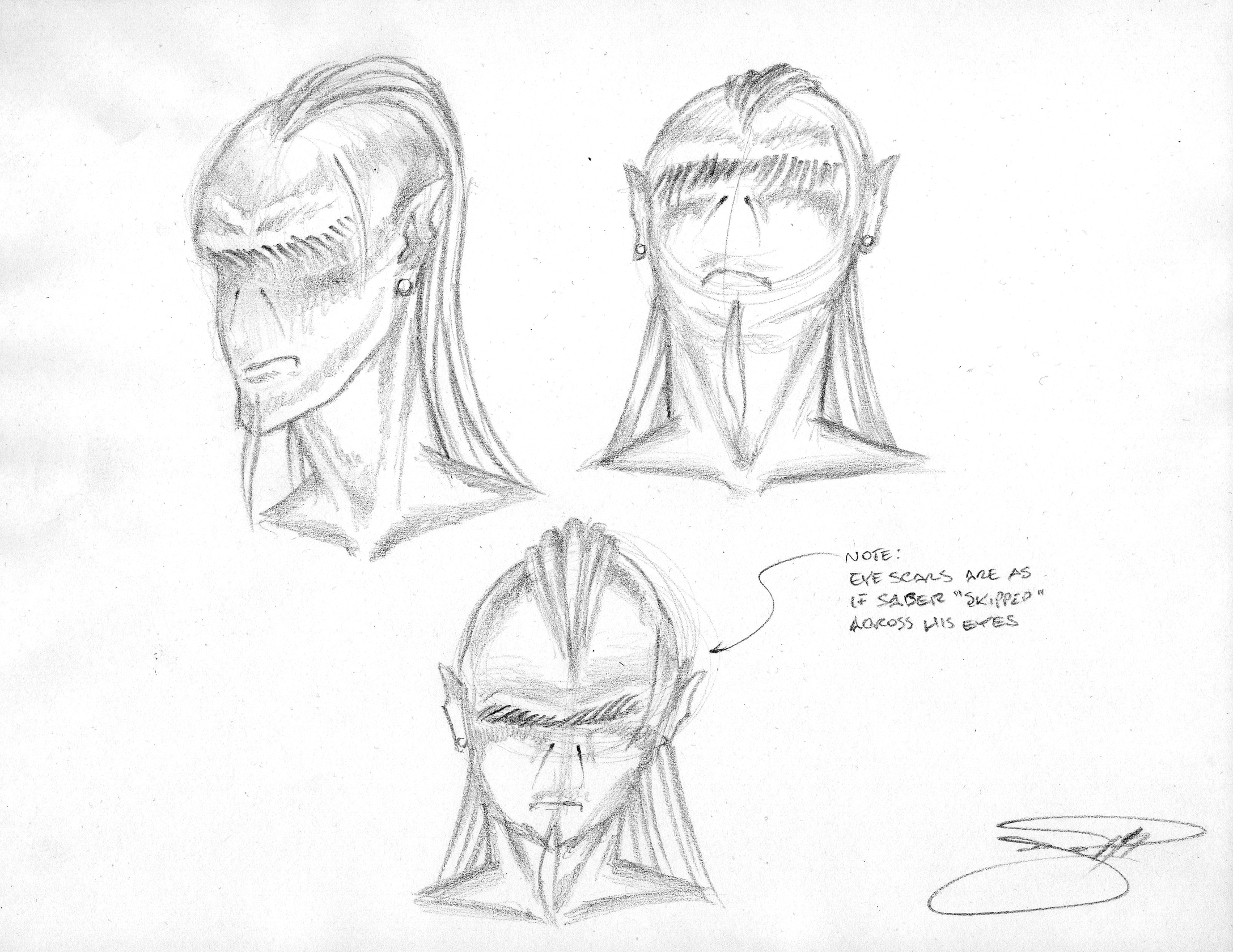 Sith Lord Rough Sketches - Head II  022