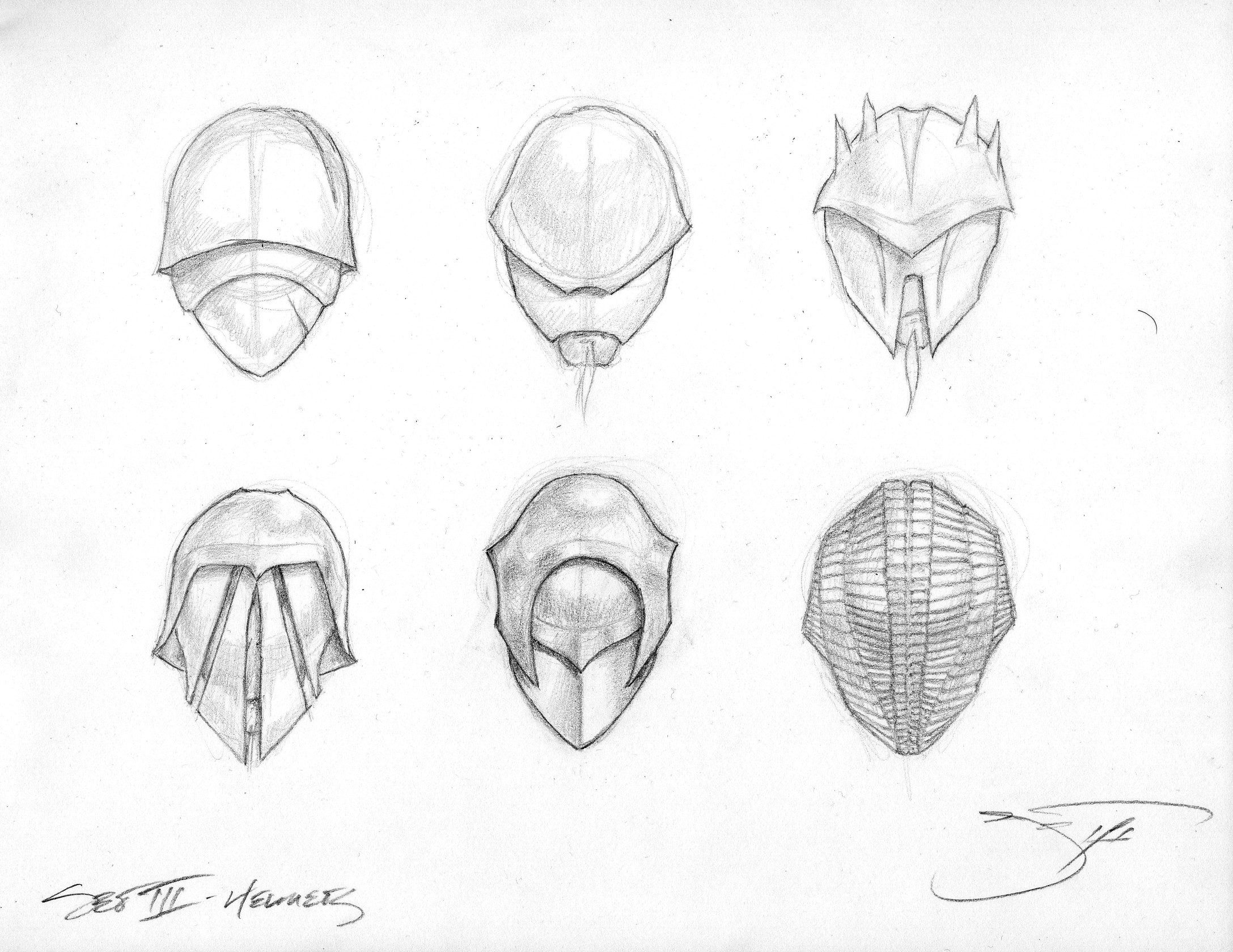 Sith Lord Rough Sketches - Masks Helmets III  026