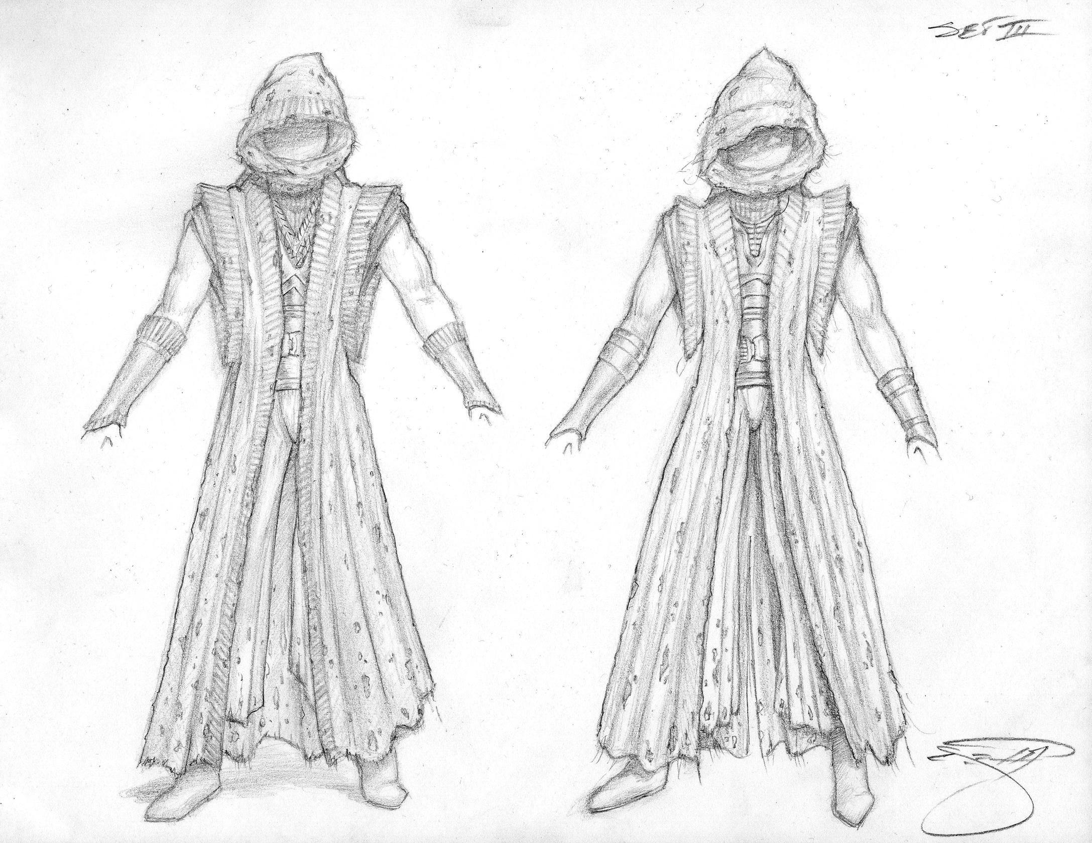Sith Lord Rough Sketches - Costume III 027