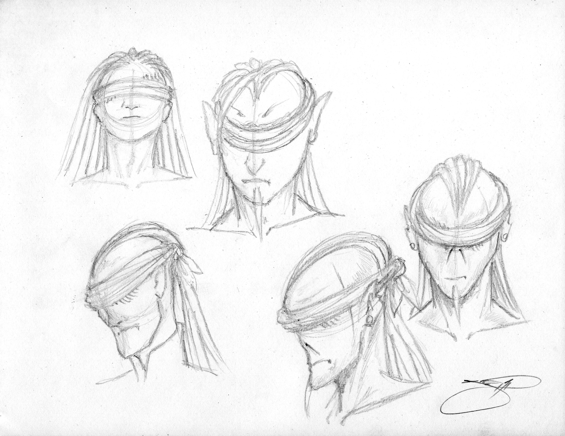 Sith Lord Rough Sketches - Head I  021