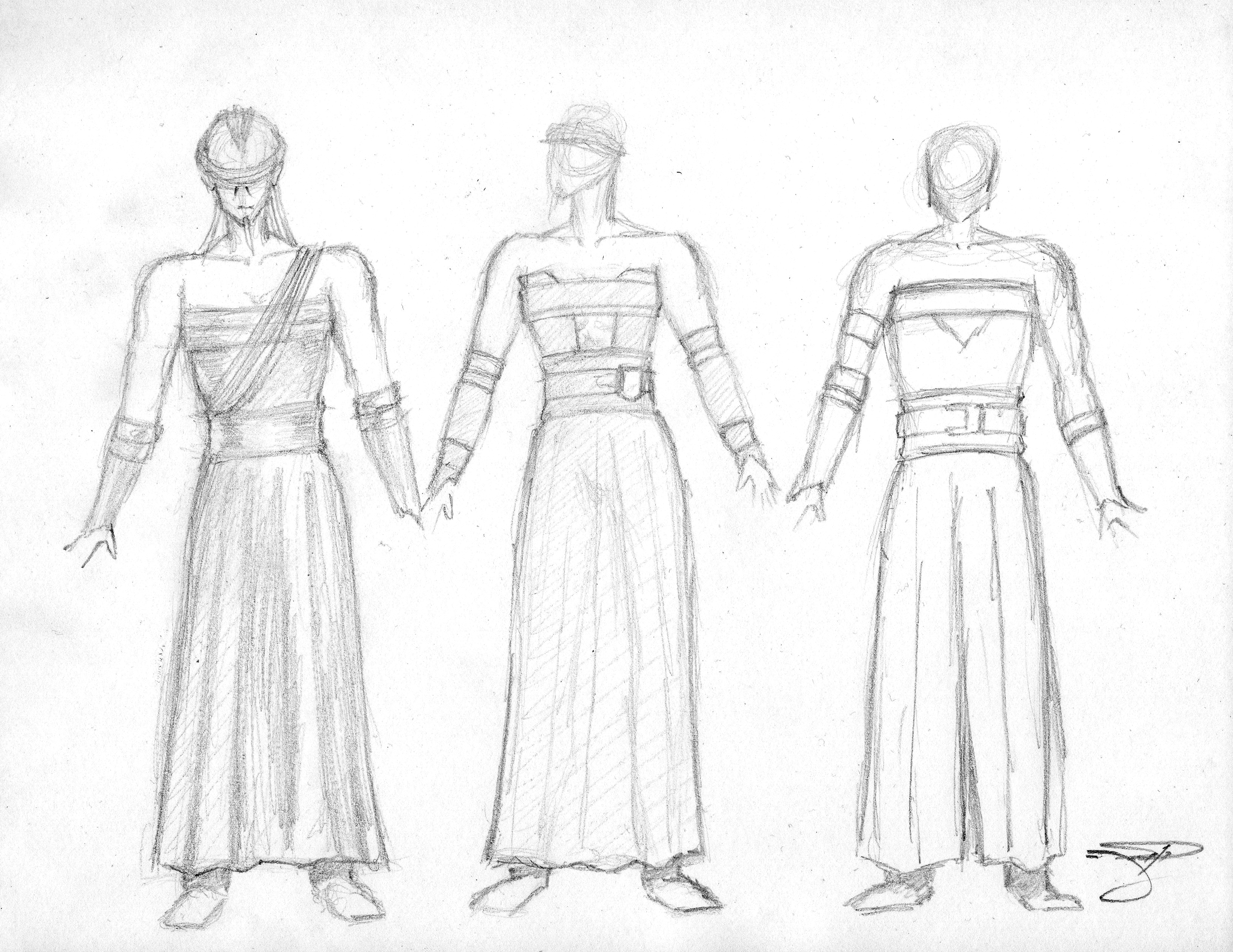 Sith Lord Rough Sketches - Costume I  020