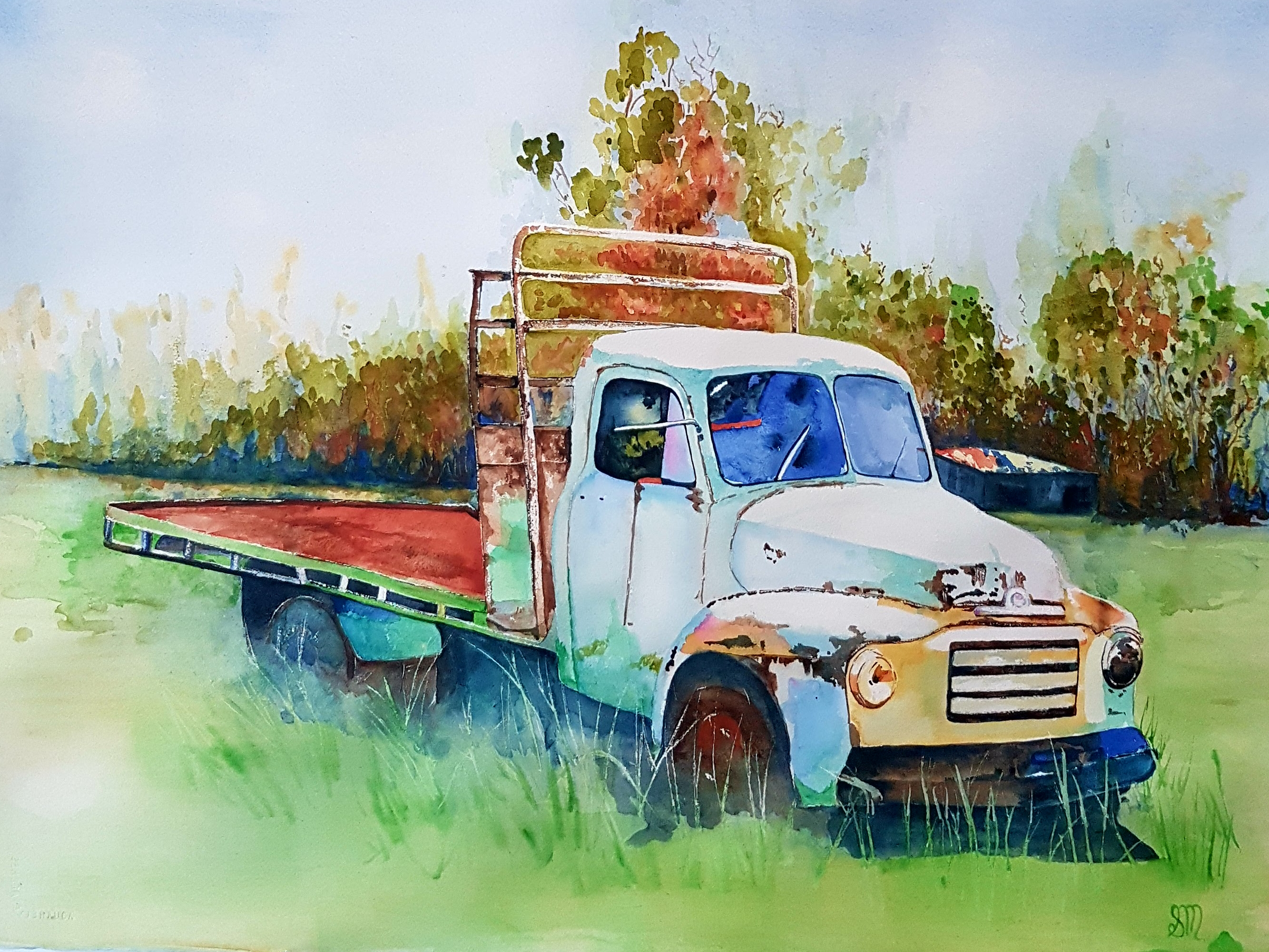 Old Bedford Tabletop-Watercolour (2)