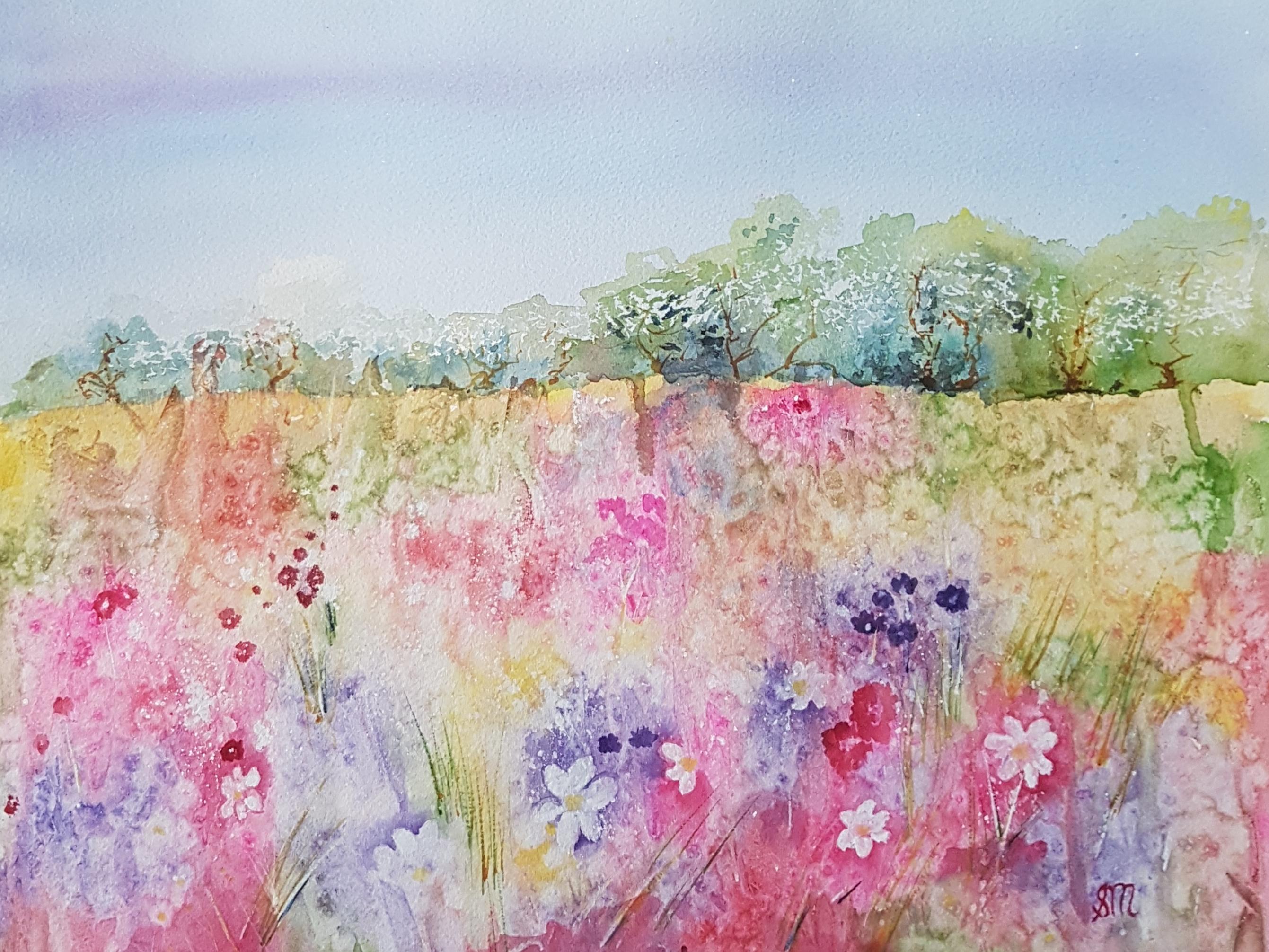 Cottage Spring Garden-Mixed Media