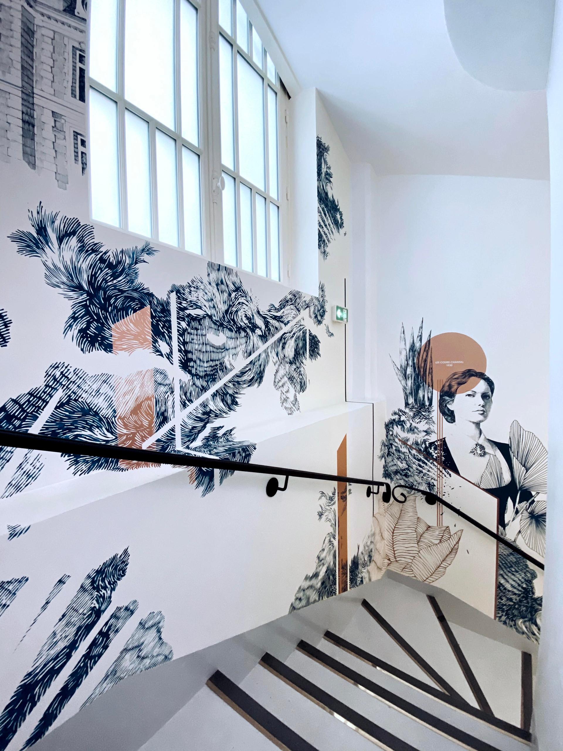 VILLA GABRIEL MOLITOR - fresque murale - clara langelez