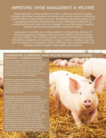 Improving Swine Management & Welfare (NCERA-219 | 2011-2016)
