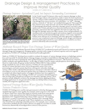 Improving Drainage Management (NCERA-217   2009-2014)