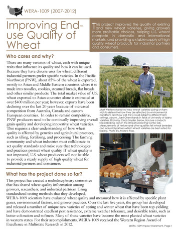 Improving the End-use Quality of Wheat (WERA-1009 | 2007-2012)