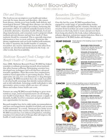 Nutrient Bioavailability (W-2002 | 2008-2013)