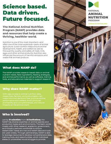 The National Animal Nutrition Program (NRSP-9 | 2015-2020)