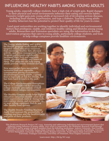 Influencing Healthy Habits Among Young Adults (NC-1193 | 2011-2016)
