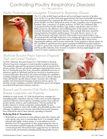 Controlling Poultry Respiratory Diseases (NC-1180 | 2009-2014)
