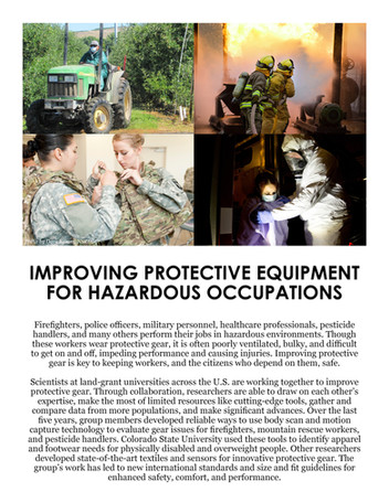 Improving Protective Gear (NC-170 | 2012-2017)