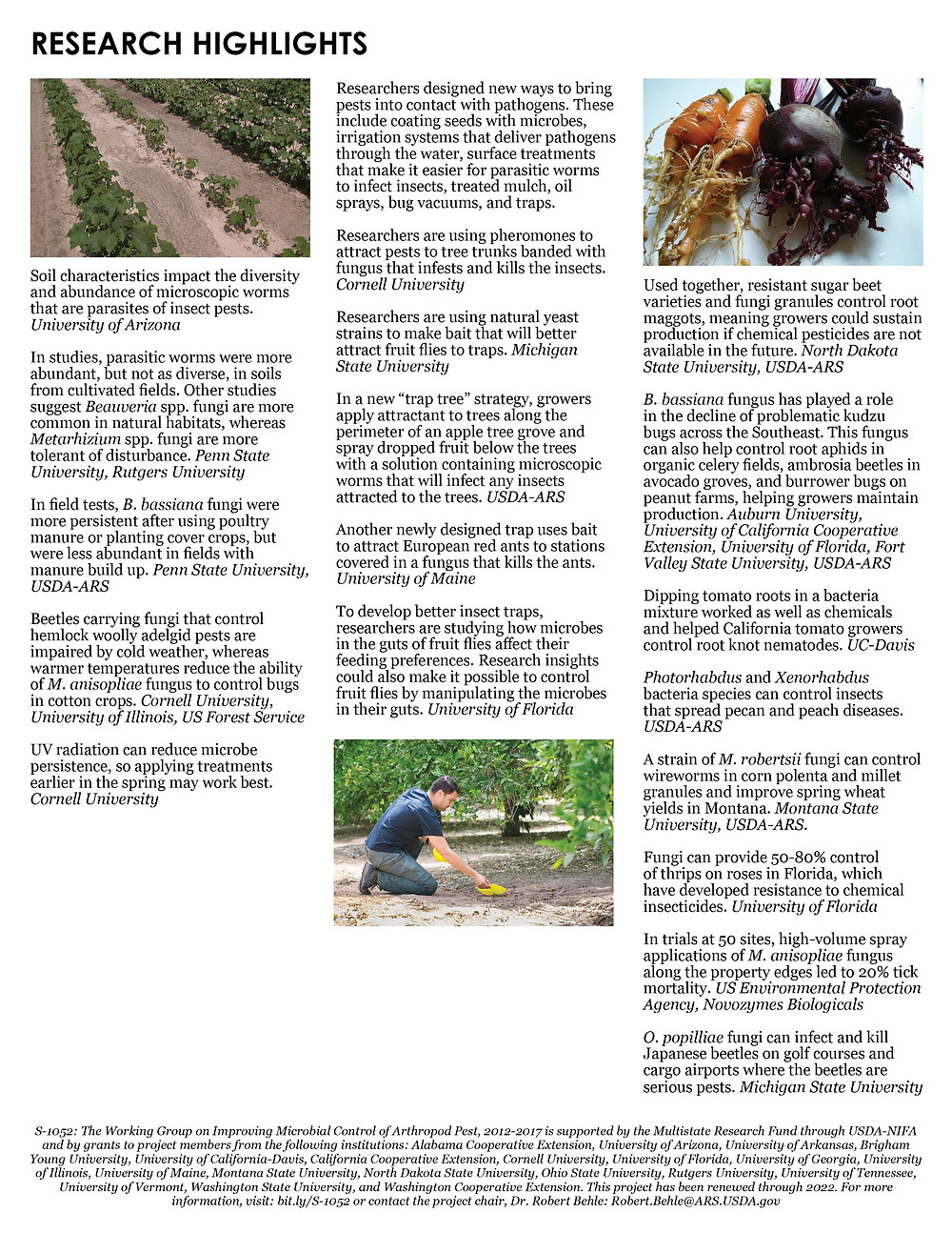 Microbial Control of Insect Pests. Click to view/download a PDF of the Impact Statement.
