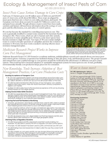 Insect Pests of Corn (NC-205 | 2010-2015)