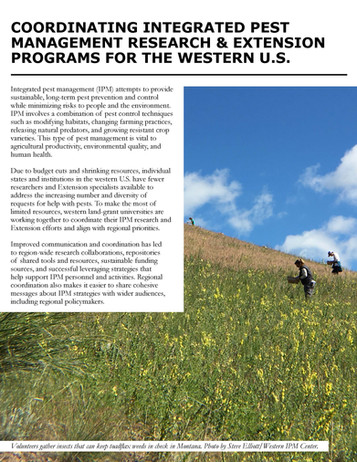 Coordinating Integrated Pest Management Research & Extension Programs for the Western U.S. (WERA