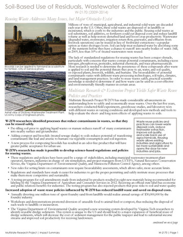 Reusing Agricultural Waste & Wastewater (W-2170   2009-2014)