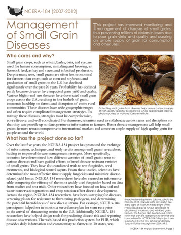 Management of Small Grain Diseases (NCERA-184 | 2007-2012)