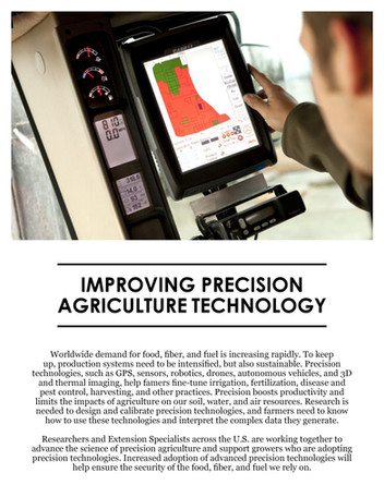 Improving Precision Technology (NCERA-180 | 2011-2016)