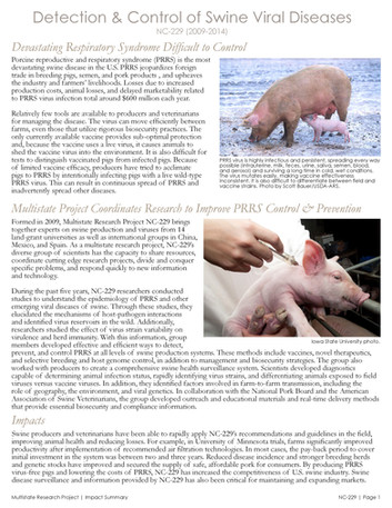 Controlling Viral Diseases in Pigs (NC-229   2009-2014)