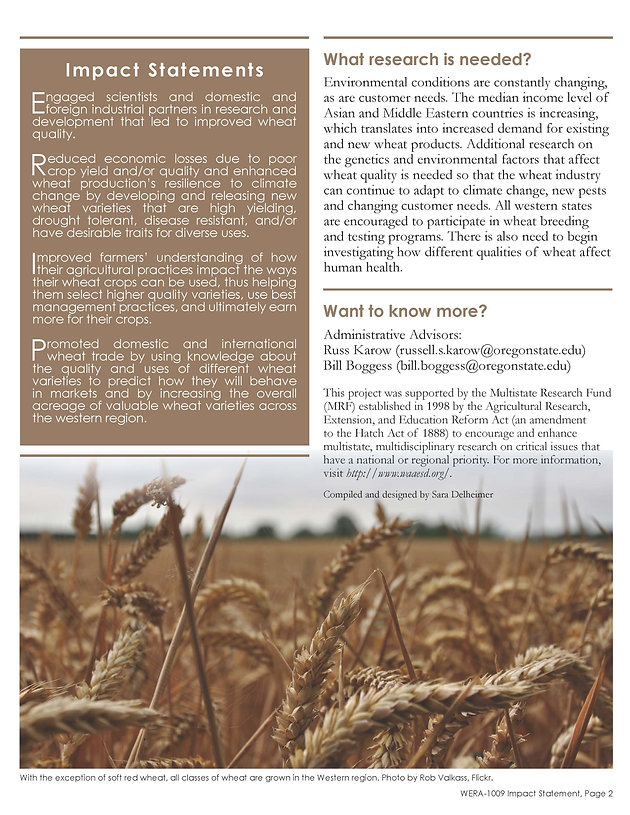Improving the End-use Quality of Wheat (WERA-1009 | 2007