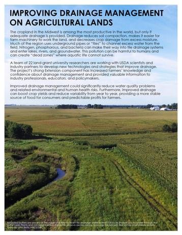 Improving Agricultural Drainage (NCERA-217 | 2014-2019)