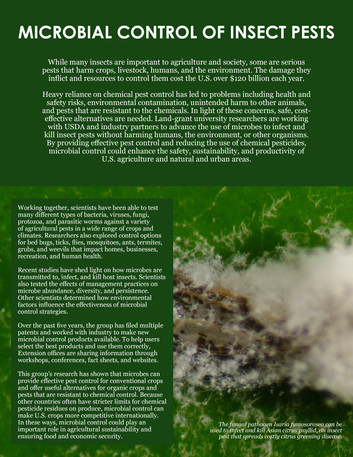 Microbial Control of Insect Pests (S-1052   2012-2017)