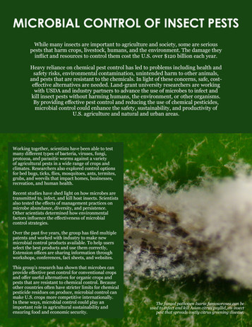 Microbial Control of Insect Pests (S-1052 | 2012-2017)