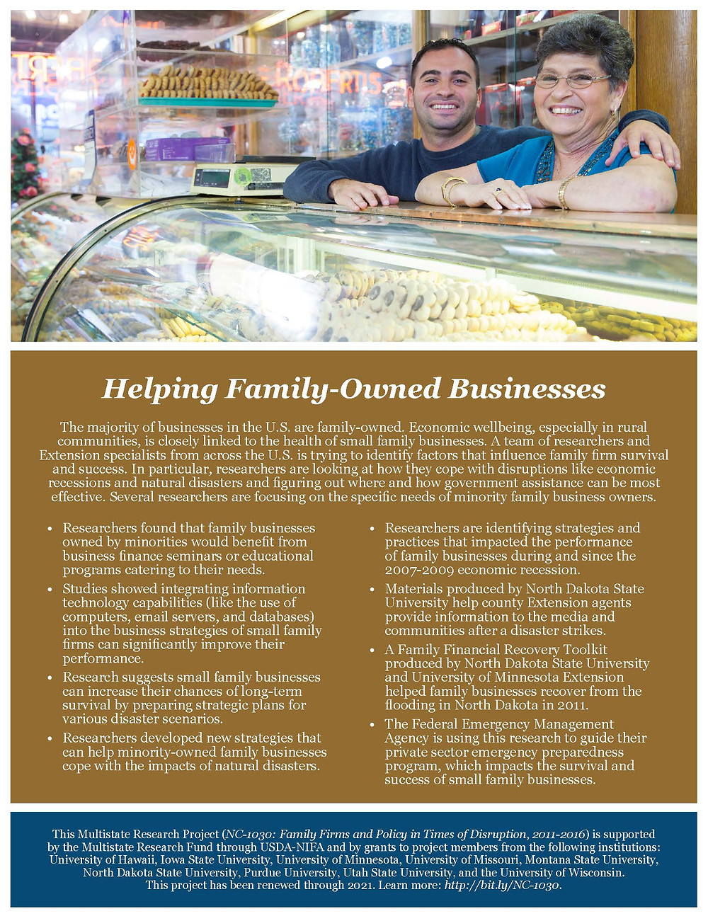 Helping Family-Owned Businesses. NC-1030 Impact Statement. Click to view or download PDF.
