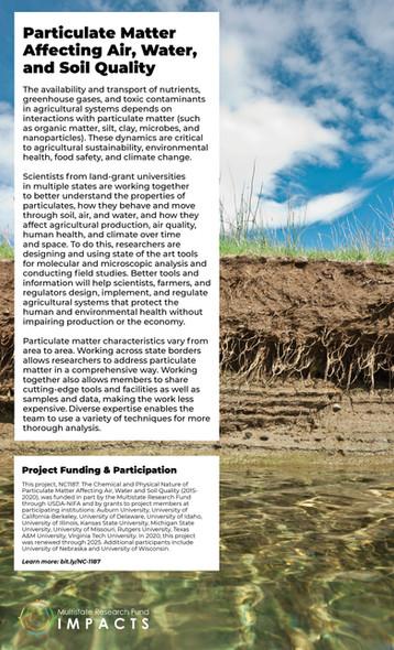 Particulate Matter Affecting Air, Water & Soil (NC-1187 | 2015-2020)