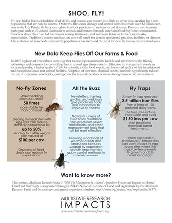 Fly Management in Animal Agriculture (S-1060 | 2013-2018)