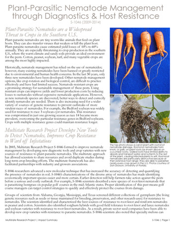 Managing Parasitic Worms in Plants (S-1046   2009-2014)