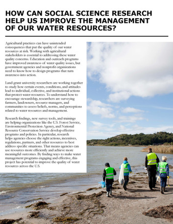 Improving Management of Water Resources (NC-1190   2011-2016)