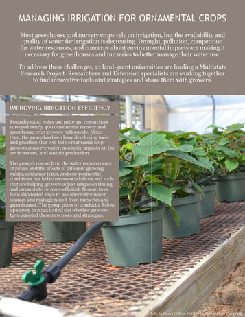 Managing Irrigation for Ornamental Crops (NC-1186 | 2015-2020)
